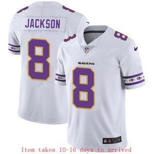 Baltimore Ravens Lamar Jackson Jersey Team Logo